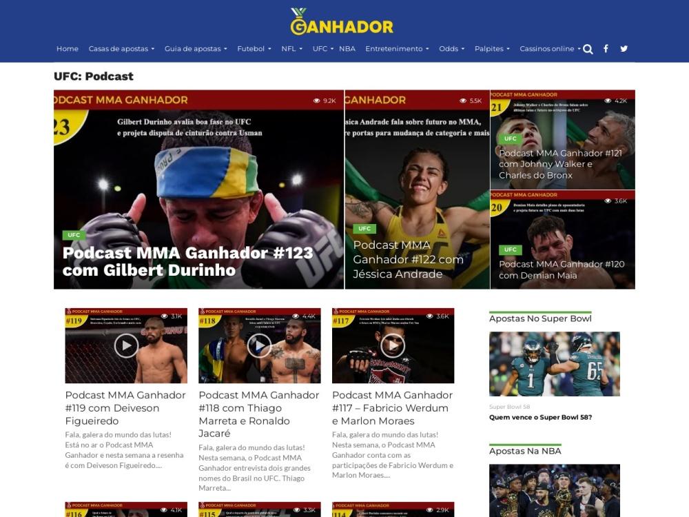 Podcast MMA Ganhador