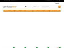 Geschenkidee Homepage Screenshot