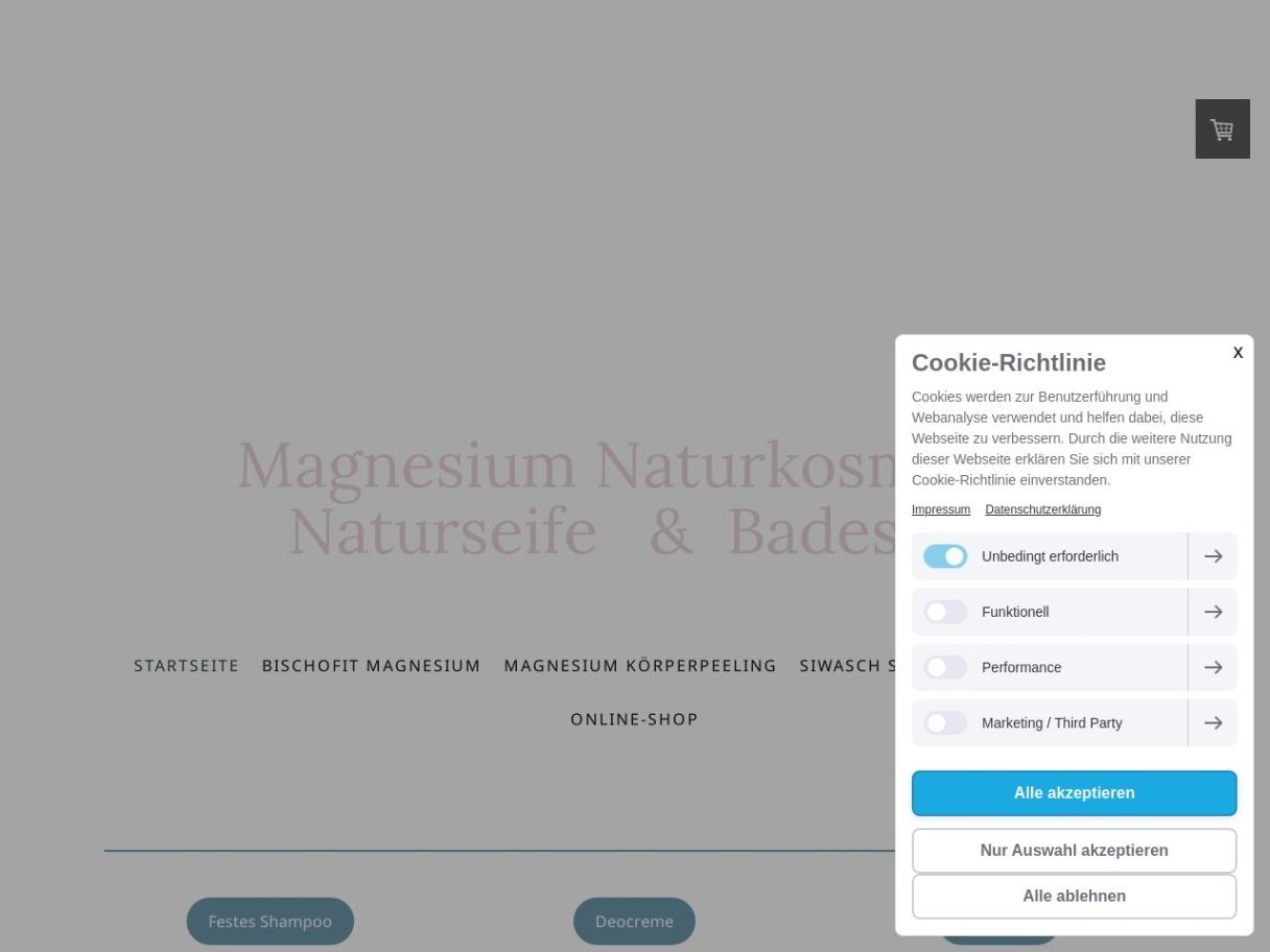 Online-Shop für Natur- und Gesundheitsprodukte