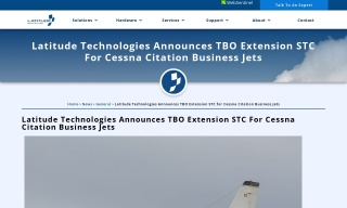 Latitude Technologies Announces TBO Extension STC for Cessna Citation