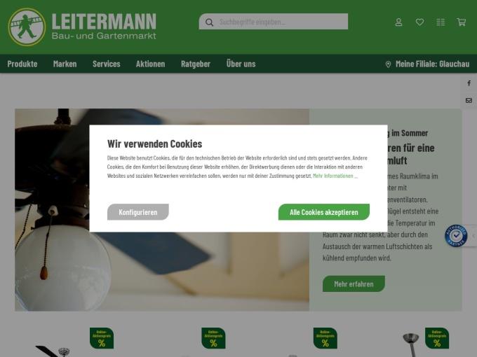Screenshot des Onlineshops von LEITERMANN