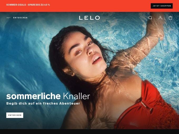 Screenshot des Onlineshops von LELO