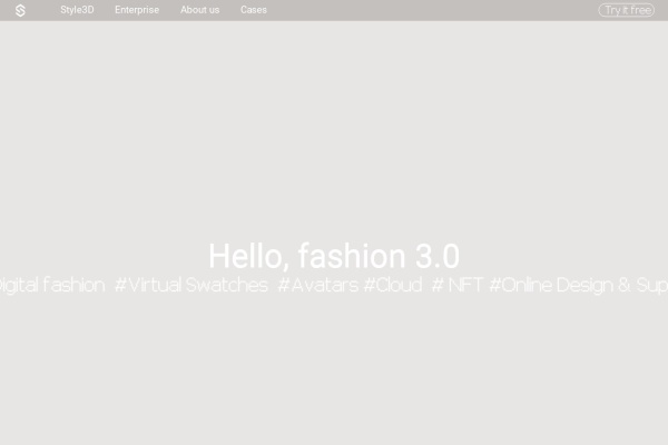 Style3D首页,仅供参考