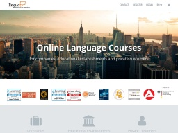 LinguaTV Homepage Screenshot