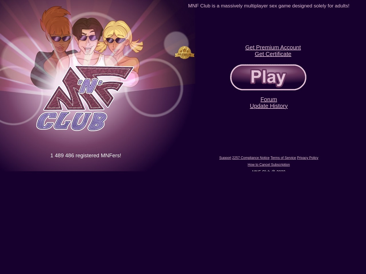 MNF Club - Chat Role-Playing MMO for adult gamers