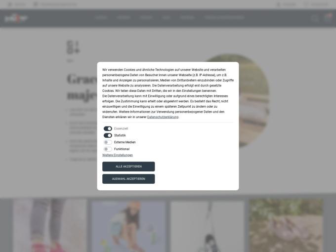 Screenshot des Onlineshops von Müller das Schuhhaus