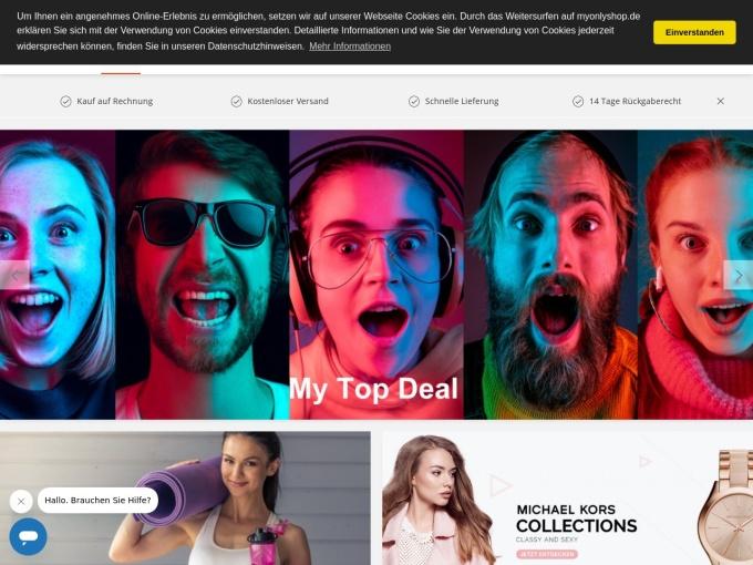 Screenshot des Onlineshops von MyOnlyShop