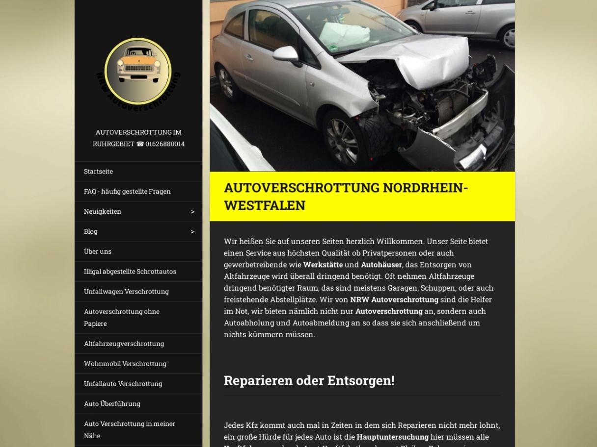 Unfallwagen und Motorrad Verschrottung