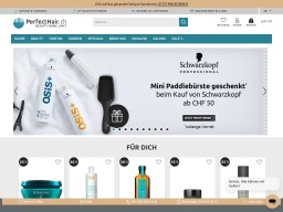 PerfectHair Homepage Screenshot