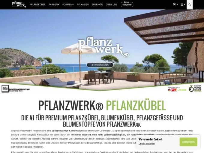 Screenshot des Onlineshops von Pflanzwerk