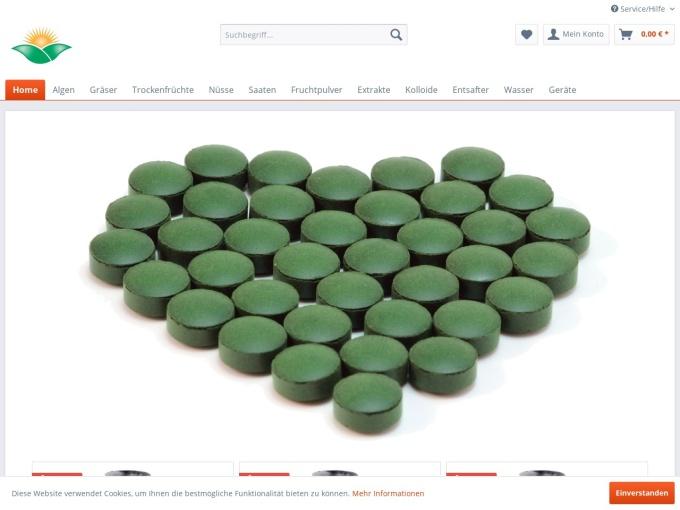 Screenshot des Onlineshops von Provital Shop