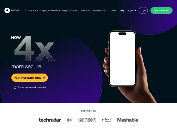 Screenshot des Onlineshops von PureVPN