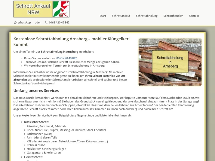 https://www.schrott-ankauf-nrw.de/schrottabholung-arnsberg.html