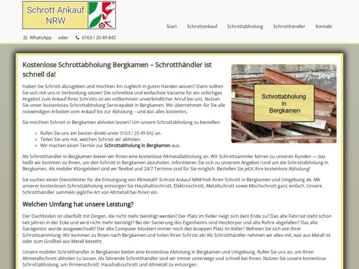 https://www.schrott-ankauf-nrw.de/schrottabholung-bergkamen.html