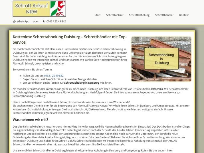 https://www.schrott-ankauf-nrw.de/schrottabholung-duisburg.html