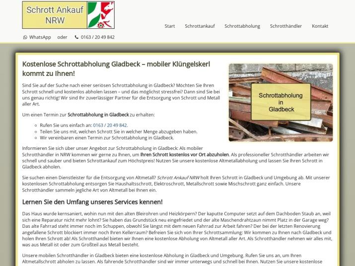 https://www.schrott-ankauf-nrw.de/schrottabholung-gladbeck.html