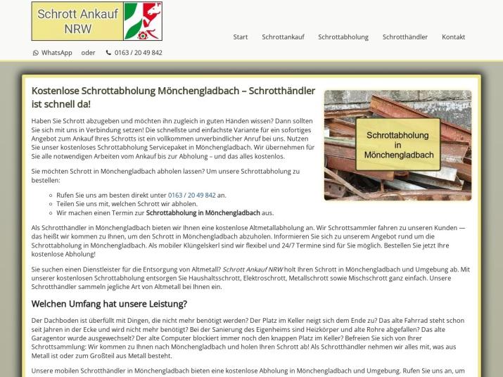 https://www.schrott-ankauf-nrw.de/schrottabholung-moenchengladbach.html
