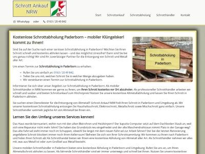 Schrottabholung Paderborn   Kostenloser Service   Flexible Termine Thumb