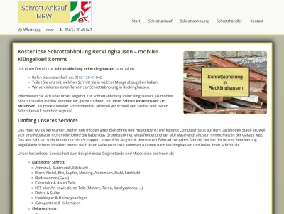 Schrottabholung Recklinghausen   Kostenloser Service   Flexible Termine Thumb