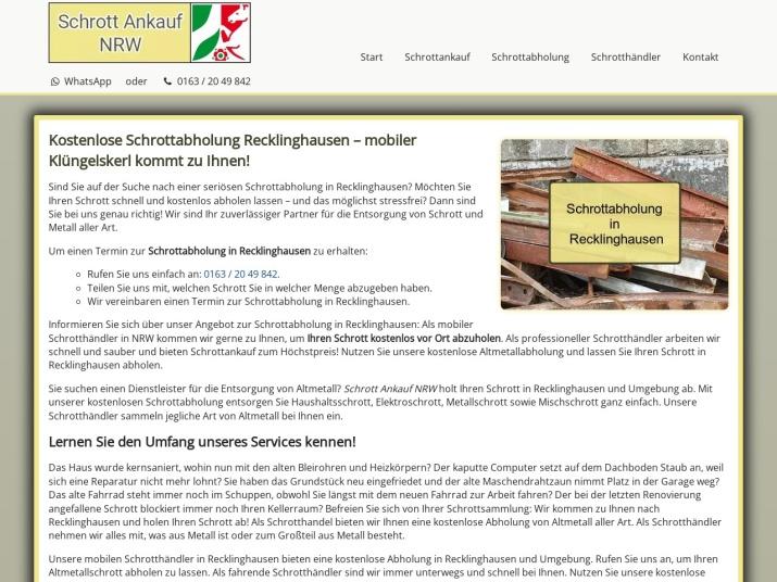 https://www.schrott-ankauf-nrw.de/schrottabholung-recklinghausen.html