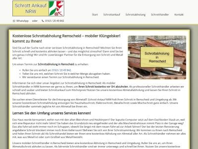 Schrottabholung Remscheid   Kostenloser Service   Flexible Termine Thumb