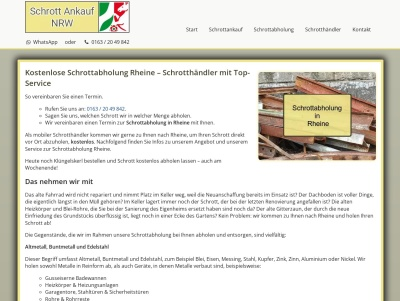 Schrottabholung Rheine   Fachgerechte Schrottentsorgung Thumb