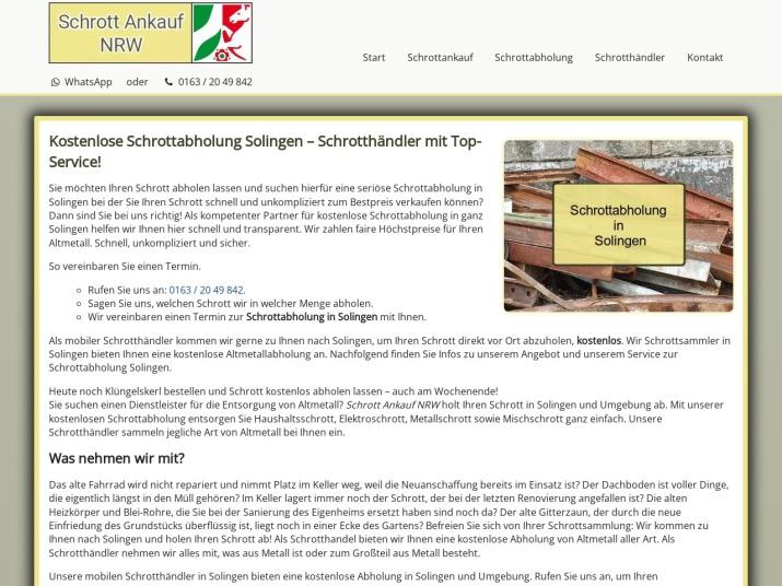 https://www.schrott-ankauf-nrw.de/schrottabholung-solingen.html