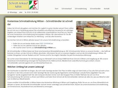 Schrottabholung Witten | Kostenlos | Zum Wunschtermin Thumb