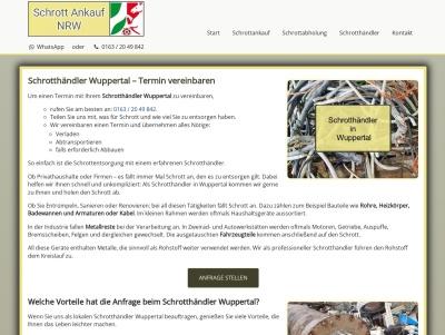 Schrotthändler Wuppertal   Schrottentsorgung mit Service Thumb
