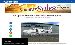 Aeroplane Heaven – Sabreliner Release Soon