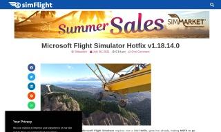 Microsoft Flight Simulator Hotfix v1.18.14.0