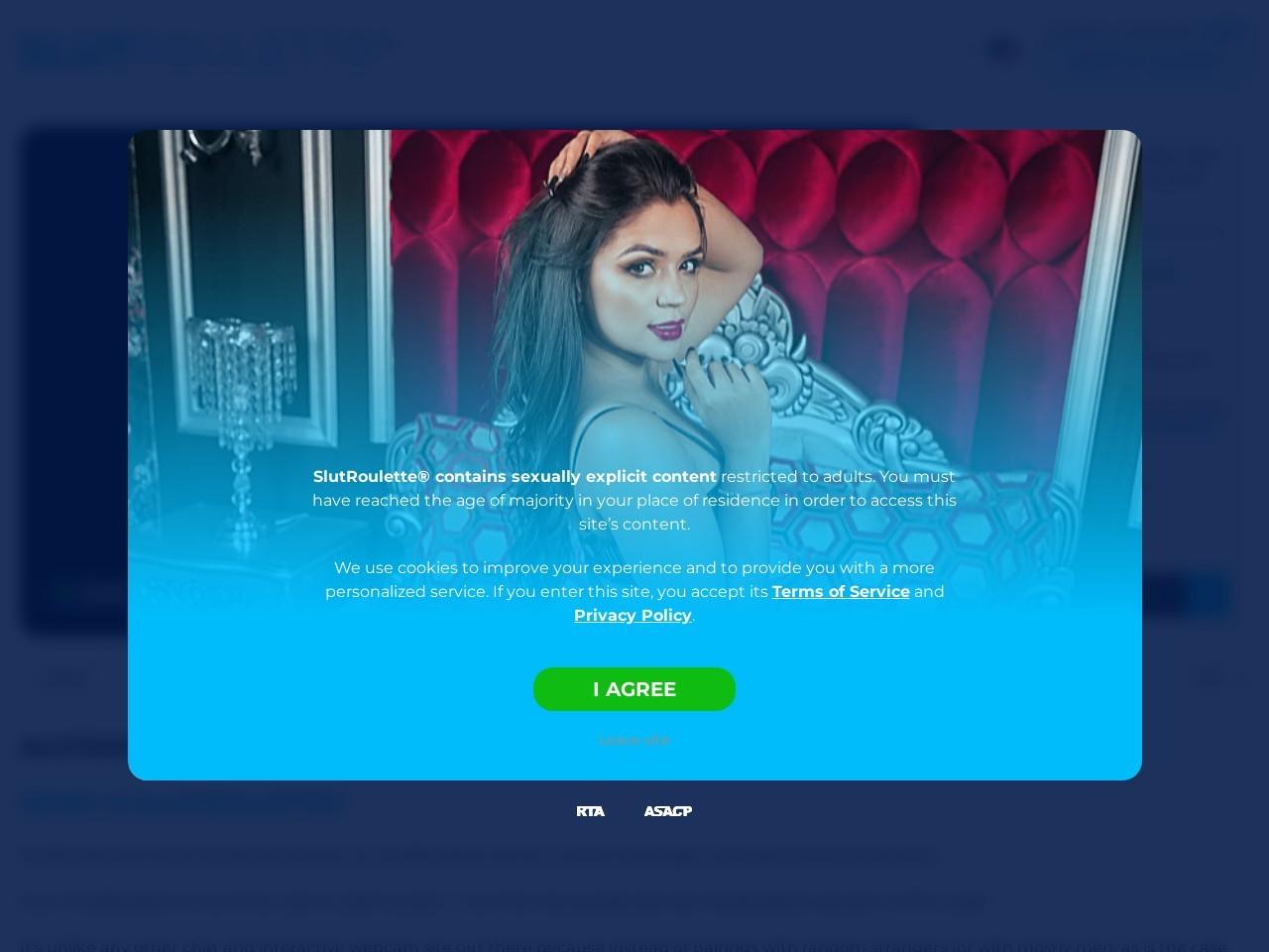 Slutroulette - The Adult Chatroulette :: interact with free live webcam girls on Slutroulette.com