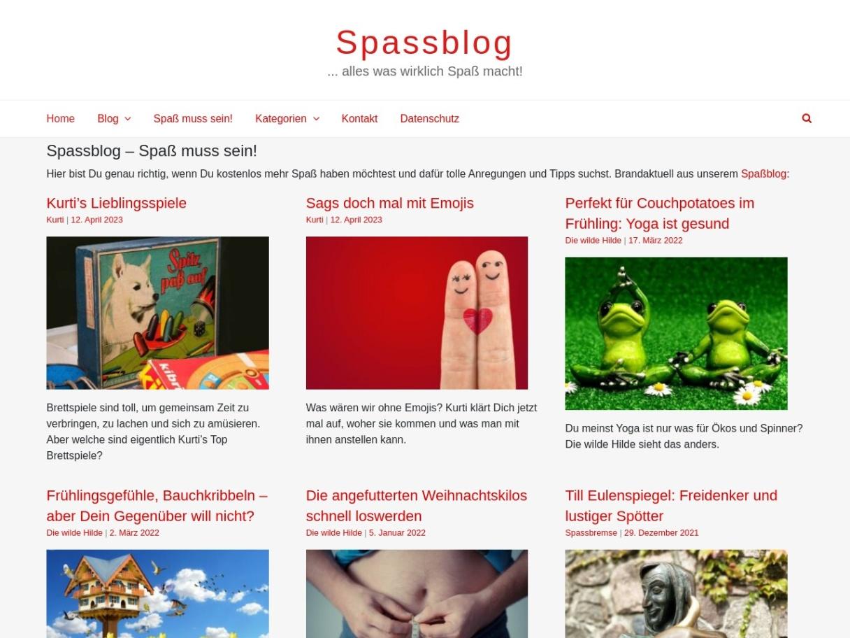 Spassblog - alles was Spass macht | Kostenlos Spass haben