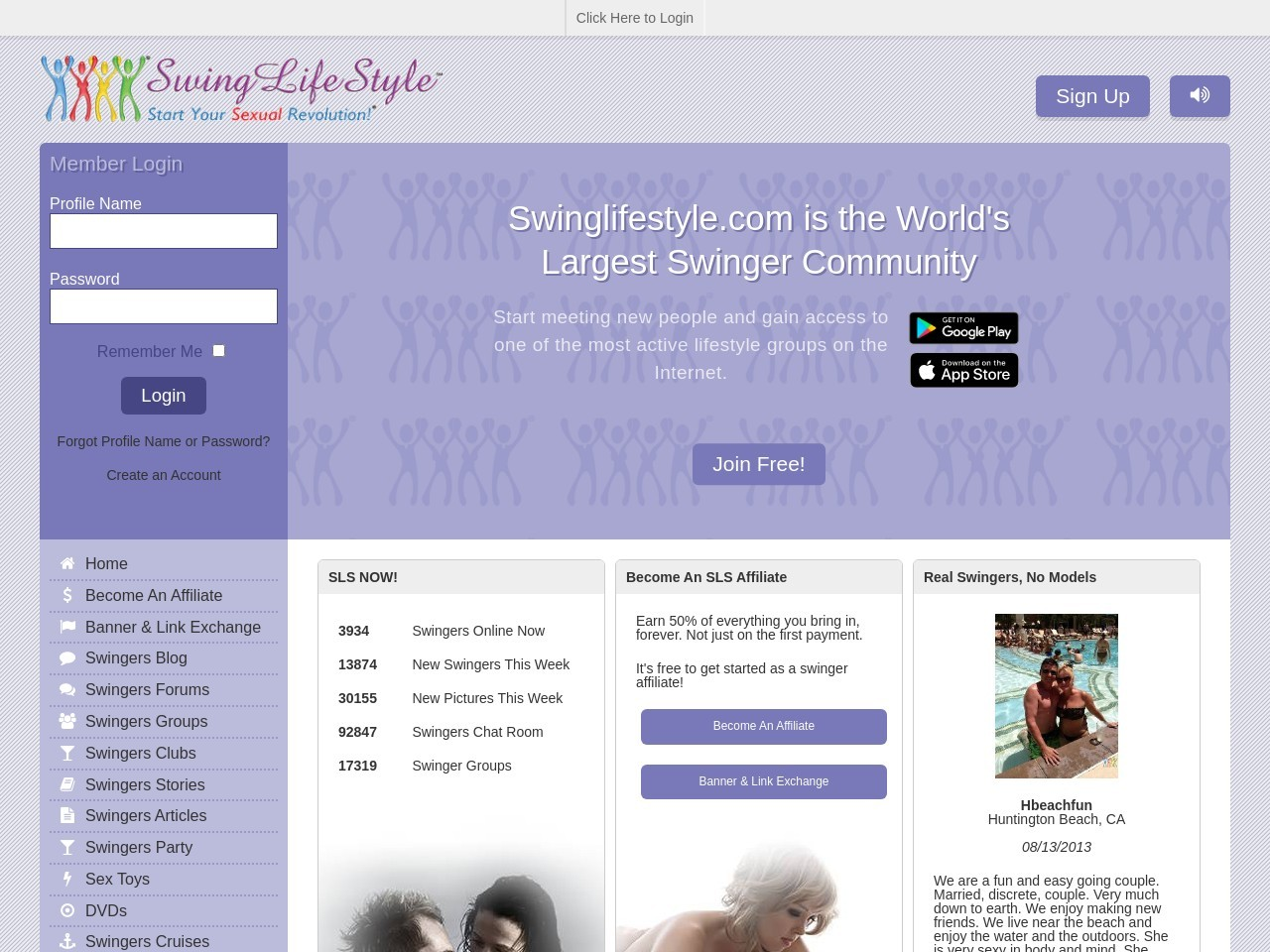 Swingers Lifestyle Community | Adult Personals | Clubs & Events