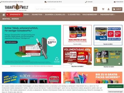 Zigaretten, Tabak online kaufen in der Tabak Welt Thumb