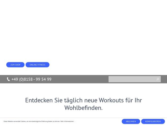 Screenshot des Onlineshops von TELE-GYM