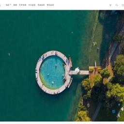 苏黎世湖岸边的室外游泳池 | 必应壁纸|必应美图