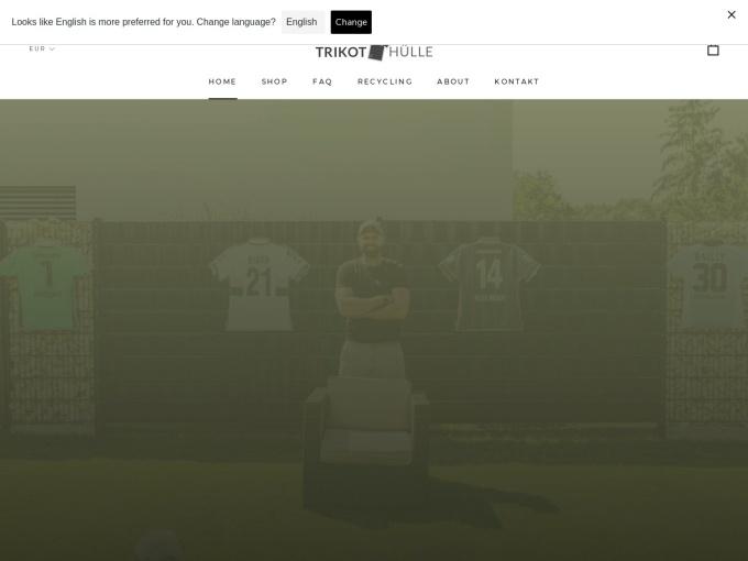 Screenshot des Onlineshops von Trikothülle