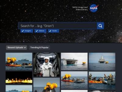 images.nasa.gov Screenshot