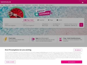 lastminute Webseite