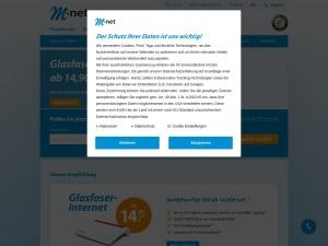 m-net Webseite