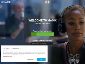 magix Webseite
