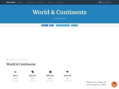 mapglyphs.com/world-maps Screenshot