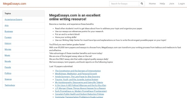 megaessays megaessays com over essays essays and term  megaessays megaessays com over 85 000 essays essays and term papers available for instant access