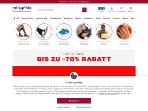 mirapodo Webseite