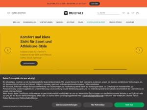 mister-spex Webseite