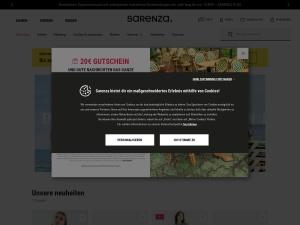 sarenza Webseite
