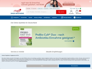 shop-apotheke Webseite
