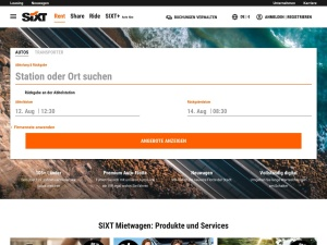 sixt Webseite