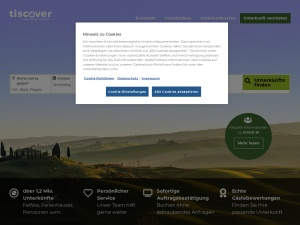 tiscover Webseite